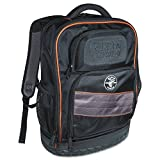 Klein Tools 55456BPL Laptop Backpack / Tool Bag, Heavy Duty Tradesman Pro Electrician Backpack with 25 Pockets, Water Resistant Nylon