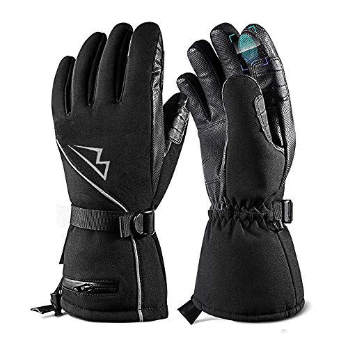 Loowoko Best Snowboard Gloves with Wrist Strap for Winter
