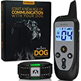 INVIROX Shock Collars for Dogs with Remote [123 Training Levels] Rechargeable Dog Training Collar, 3350Ft Range E Collar, Lightweight IP67 Waterproof Electric Dog Collar for Medium Dogs Small & Large
