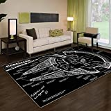 Millennium Falcon Star Wars Rug Non Slip Floor Carpet,Area Rug, Modern Carpet 3x5 4x6 5x8 ft Youset Decoration (4x6ft)