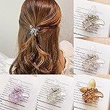 Mujer transparente garra del pelo mariposa en forma de clip de pelo cangrejo accesorios para el cabello niñas dulce cangrejo horquillas Hairgrip