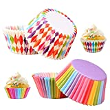 solawill 200 Pezzi Pirottini di Carta , Pirottini per cupcake Pirottini per Muffin e Cupcake pirottini per cupcake e muffin Mini custodie per Muffin coppetta di Carta Rainbow,per Pastichieria,Cupcake