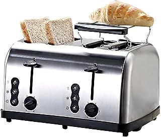 Grille-pain grille-pain 2/4 tranche, grille-pain à bagel rétro avec emplacements extra-larges, réchauffage de dégivrage de...