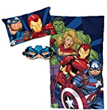 Jay Franco Marvel Vengadores apilados 3 piezas juego de pijama, azul