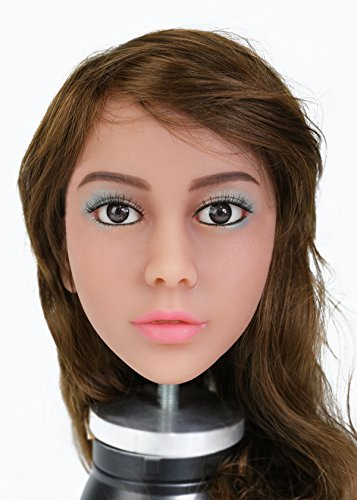 KingMansion Sex Doll Head, for Sex Doll Lifelike Real Oral Ass Anal Vagina Sex Male Toy, Sex Doles for Man (# 56, Tan Skin Color)