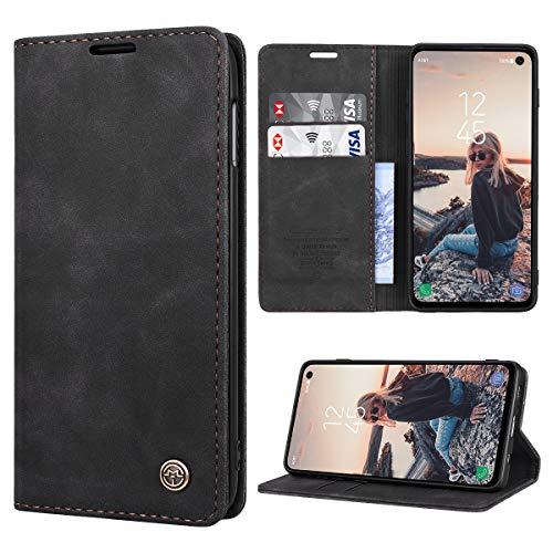 RuiPower pour Coque Samsung Galaxy S10e Cuir Etui Housse Premium PU Portefeuille de Protection [Magnétique] [Carte Fentes] [Stand Fonction] Flip Case pour Samsung Galaxy S10e - Negro