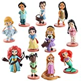 EASTVAPS Juguete 11 Piezas Figura Blancanieves Cenicienta Sirena Figura Juguete Rapunzel muñeca deco...