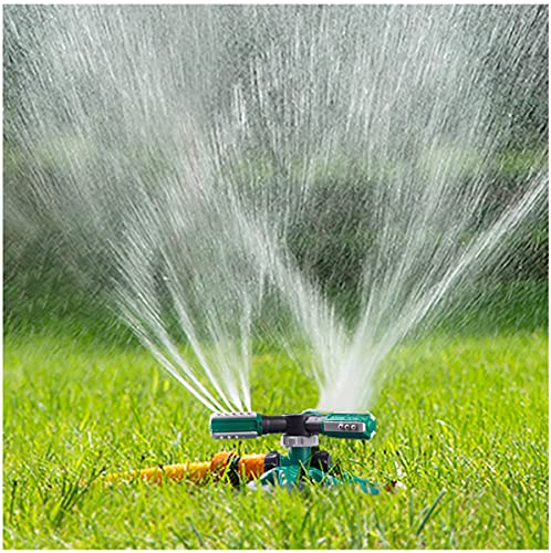 WOVUU Garden Sprinkler,Upgrade Lawn Sprinkler Automatic 360 Degree Rotating Irrigation Sprinkler System, Garden Hose Sprinkler for Yard/Built in 36...