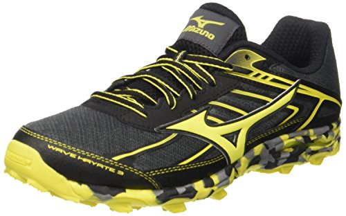 Mizuno Wave Hayate, Zapatillas de Running para Hombre, Multicolor (Dark Shadow/Bolt/Black), 46 EU
