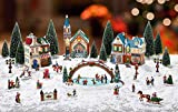 Christmas Village with Lights & Music
