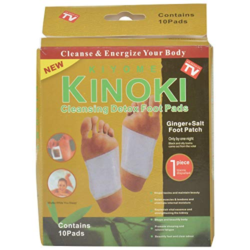 CDK™ Health Care System Acp Kinoki Cleansing Detox Foot Pads – Set Of 10 (Free Size, White)