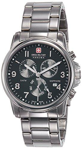 SWISS MILITARY-HANOWA Herren Analog Quarz Uhr mit Edelstahl Armband 06-5233.04.007
