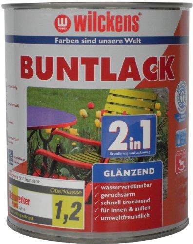 Wilckens 2in1 Buntlack glänzend, RAL 9010 reinweiß, 125 ml 10491000010