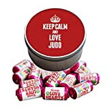 Duke Gifts RED Keep Calm and Love Judo Love Heart Sweet Tin 1792
