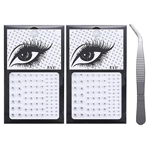 Magitaco 164 Bindi Dots Crystals Stickers Fake Nose Stud Stickers Self Adhesive Rhinestones Non Piercing Eye Ear Face Body Jewelry for Women Bindi Stickers Crystal