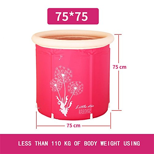 Big Save! Adult Folding Bracket Tub Plastic Household Inflatable Bathtub Adult Bath Bucket (Color : ...