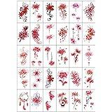 misaki タトゥーシール ヒガンバナ入れ 薔薇 さくら 花 30枚セット 刺青シール タトゥーステッカー ボディーシール 防水 子供 レディース
