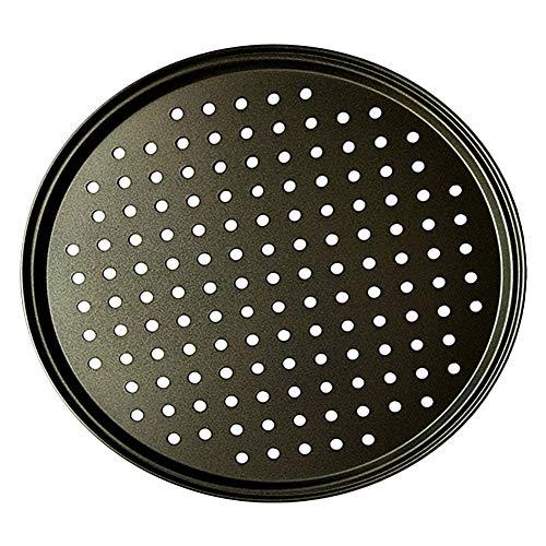 Pizzablech, Karbonstahl, antihaftbeschichtet, Pizza-Backform, Gitterplatte, Backzubehör, 26 cm