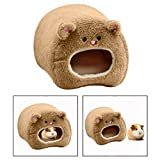 Itian Hamac en peluche pour Hamster Warm Warming Soft Bed pour Rat Rabbit, Marron