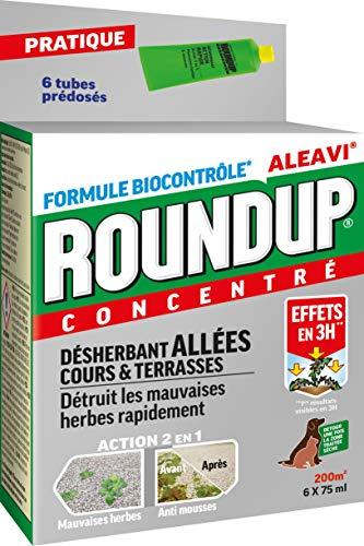 Roundup Désherbant Allées Cours et Terrasses Tubes Pré-dosés, x6