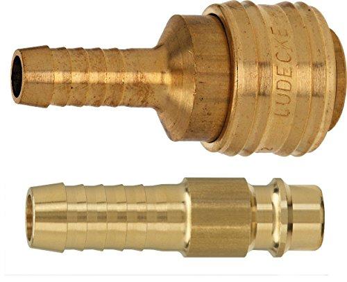 Stecker und Kupplung mit 8 mm Tülle, Druckluftkupplung, Druckluft 7,2, 5000.216