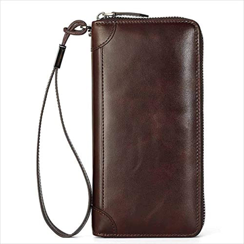 Sumferkyh Brieftasche Herren Herren Herren Lange Brieftasche aus Rindsleder Vintage Ledertasche Ledergeldbörse für Krotitkarten, Ausweise (Farbe   Braun) B07KWKMGSZ 112cf8