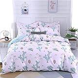 BH-JJSMGS Baumwollbettbezug Bettwäsche, lichtbeständig und schmutzabweisend, kleine Blumenfee 160 * 210cm