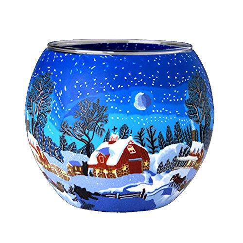 Kerzenfarm 21821 Leuchtgläser, Glas, bunt, 11.0 x 11.0 x 9.0 cm