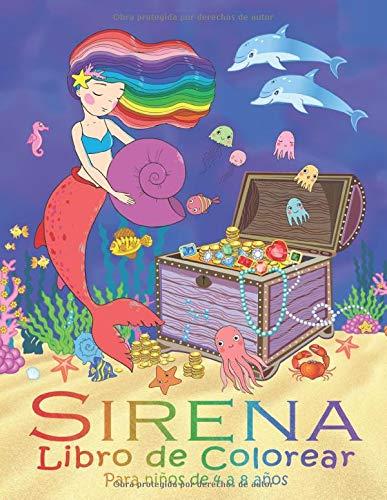 Sirena Libro de Colorear para Niños de 4 a 8 Años