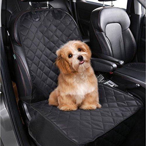 femor Hunde Autositz Auto-Sitzabdeckung Praktische Auto Hundedecke, Autoschutzdecke, 100x52cm, ideal für den Transport von Tieren schwarz(Vordersitz)