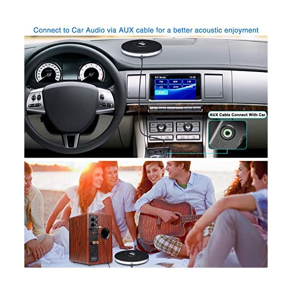 Rechargeable Portable CD Player, Small CD Player for Car, Compact Personal CD Player with LED Backlit Display, 12 Hours Playing Time, Anti-Skip, Shockproof and 3.5mm AUX Cable 6
