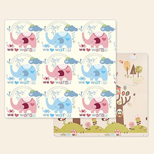 KTYX Colchoneta de Arrastre Estera de bebé de Doble Cara Protección del Medio Ambiente Juego de Escalada de XPE Colchoneta Plegable for salón, 197x148x1cm Estera de los niños (Color : 2)