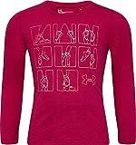 Under Armour Girls' Little Graphic Long Sleeve T-Shirt, Rhubarb f19, 5