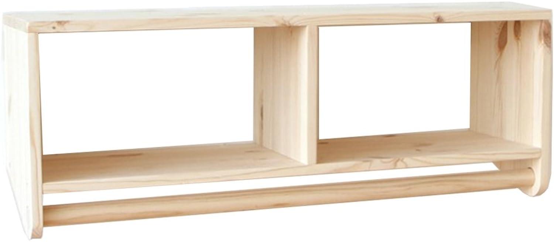 JIANFEI Wall Coat Rack Clothes Hat Shelf Structure Cylindrical Crossbar, Wood