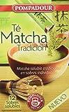 Pompadour Té Matcha Tradición Soluble - Pack de 5 x 12 Cómodos (36g)