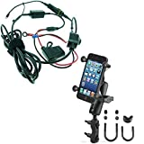 BuyBits High Powered Hardwire Motorcycle Brake Clutch Reservoir Mount for iPhone Xs