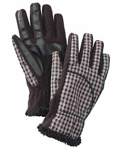 Isotoner Smart Touch Womens Black Plaid Tech & Texting Gloves Smartouch M/L