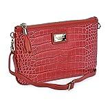 Estuche Doble Regalo para Mujer Monedero Billetero + Bolso pequeño de Mano P.U. Coco Guy Laroche 300 (Rojo)