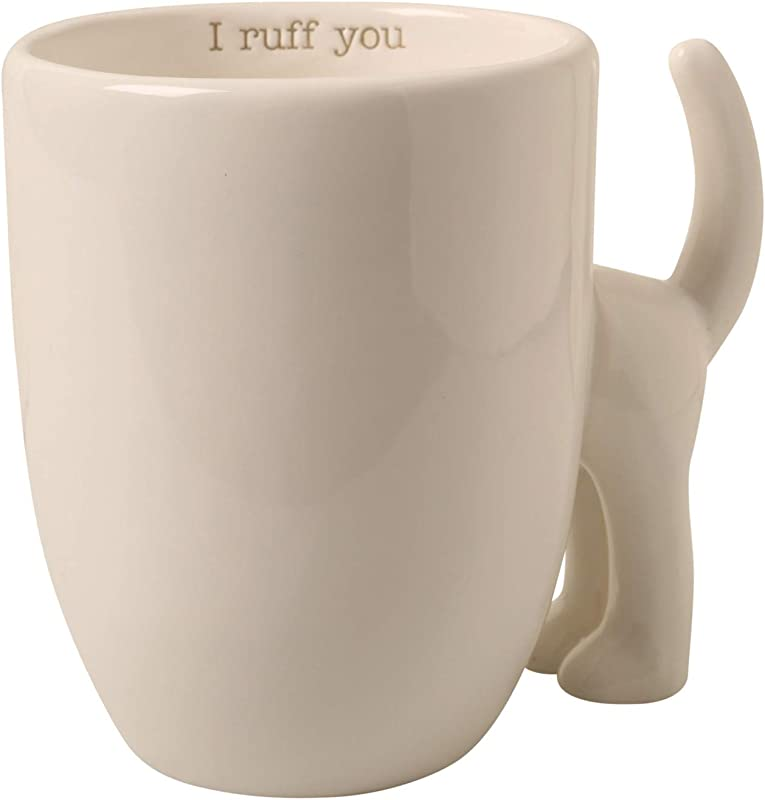 Mud Pie I Ruff You Dog Tail Mug