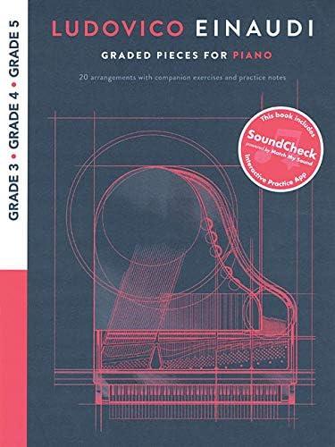 Ludovico Einaudi Graded Pieces for Piano Grades 3 5 Bk Online Audio product image