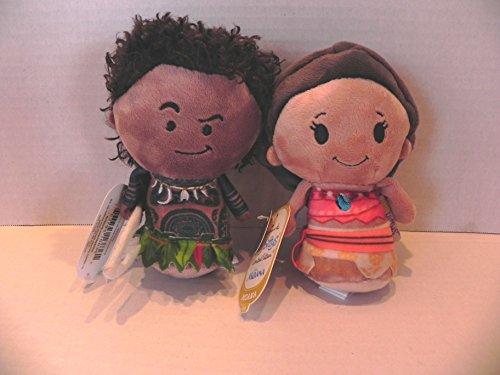Set of 2 Hallmark Disney's Moana Limited Edition Itty Bittys: Moana & Maui