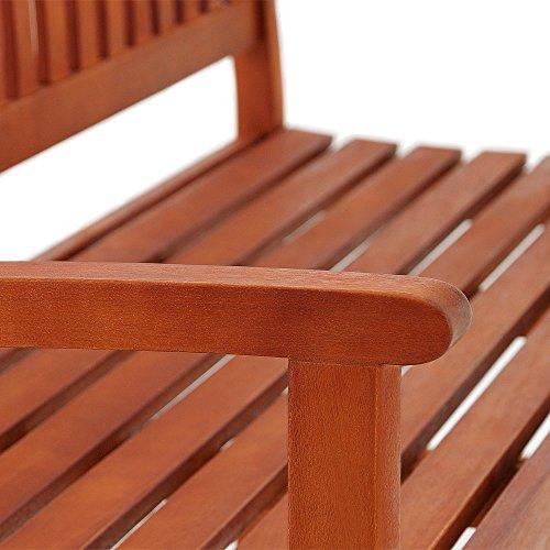 Deuba Gartenbank Maxima 3-Sitzer FSC®-zertifiziertes Eukalyptusholz In- & Outdoor Holzbank Sitzbank Parkbank Bank - 5