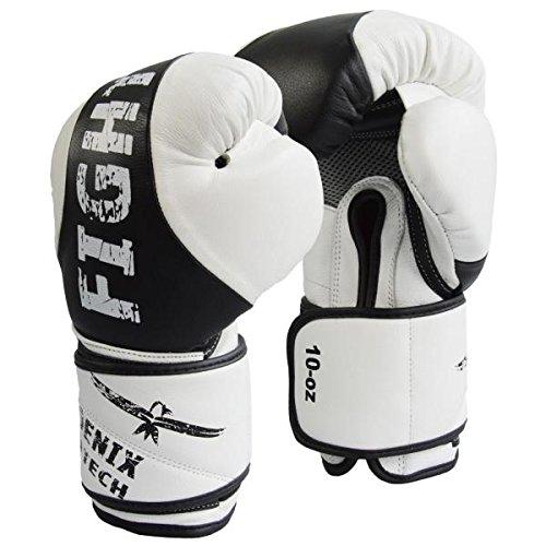 Phoenix Boxhandschuhe aus Leder mit Innenbelüftung für Herren und Damen | Boxen - MMA - Kickboxen, | für Training und Sparring (12 UZ)