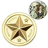 Lakulife グレイプニル コイン ゴールデンコイン 展示用グッズ付き 亜鉛合金材質 直径3.5cm 厚さ0.5cm
