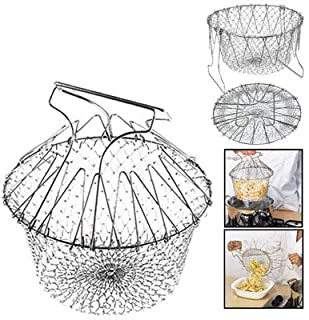 Chef Buddy Stainless Steel Steam/Fry/Wash Strain Basket for Kitchen Tools Gadgets