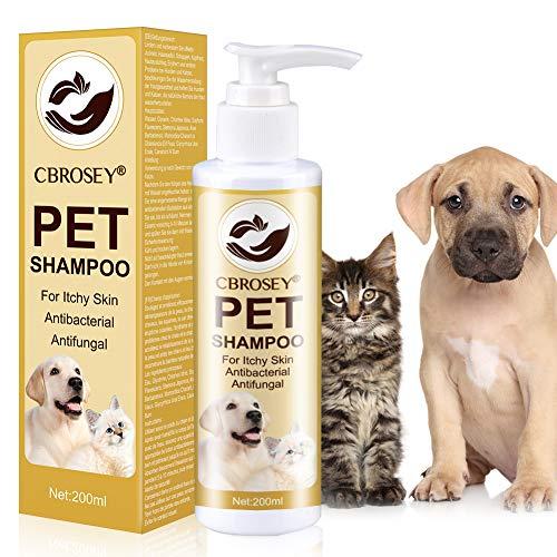 CBROSEY Flohshampoo,Anti Floh Shampoo Für Hunde,Anti Zecken Shampoo für Hunde,Zecken Floh Parasiten Shampoo,Zeckenfrei Shampoo Juckreiz Shampoo für Haustiere Hund