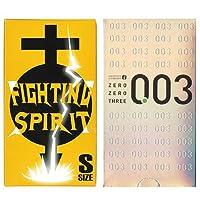 オカモト ゼロゼロスリー 12個入 + FIGHTING SPIRIT (ファイティングスピリット) コンドーム Sサイズ 12個入