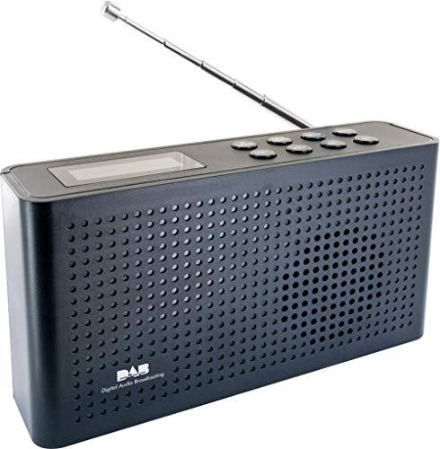 SCHWAIGER -716467- Digital Radio DAB/DAB+ | tragbar | mit Stab-Antenne und Kopfhörerausgang | UKW & DAB Empfang | Betrieb via Micro USB/Akku | beleuchtetes LCD Display | automatischem Sendersuchlauf
