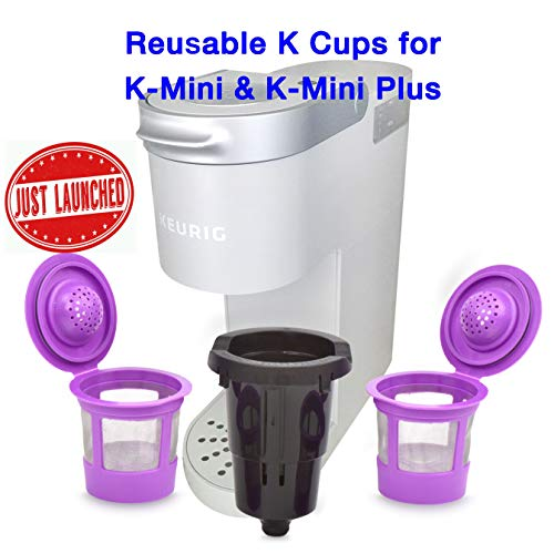 Delibru Reusable K Cups For K Mini Keurig K Mini Plus with Adapter | Keurig Mini Plus Reusable K Cups for Mini Keurig