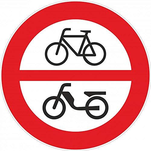 Verkehrszeichen: Fahrverbot für Fahrräder und Motorfahrräder §52/8a - Aluminium | DM 480 mm | reflektierend | Vorschriftszeichen §52 StVO Österreich